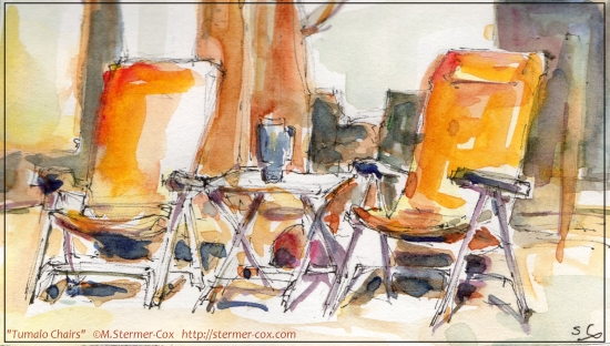 Tumalo Chairs; Watercolor