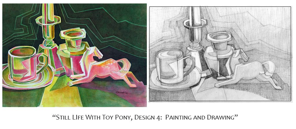 Memory Drawing: Design 4, Still Life with Toy Pony