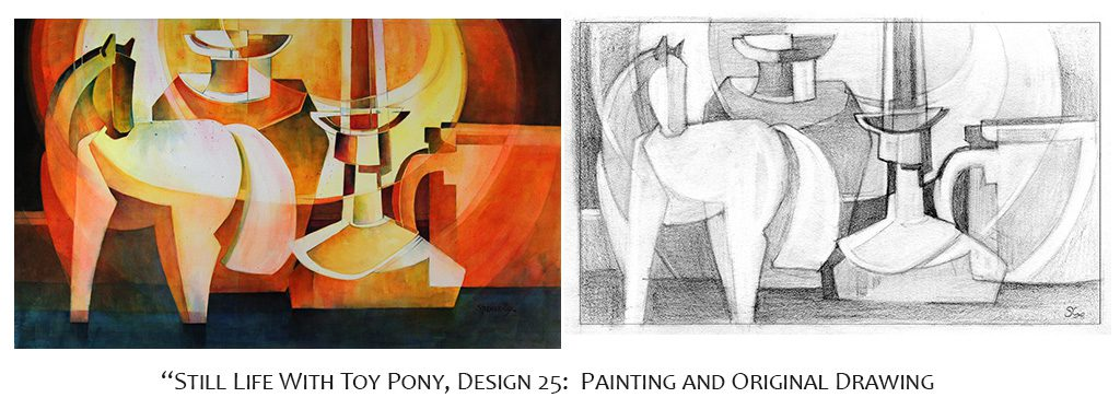 Memory Drawing: Still Life With Toy Pony Series