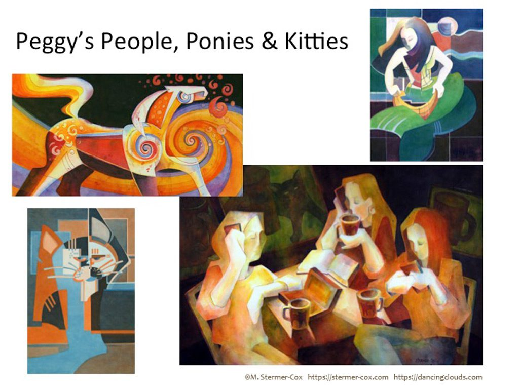 Art Show: Peggy's People, Ponies and Kitties