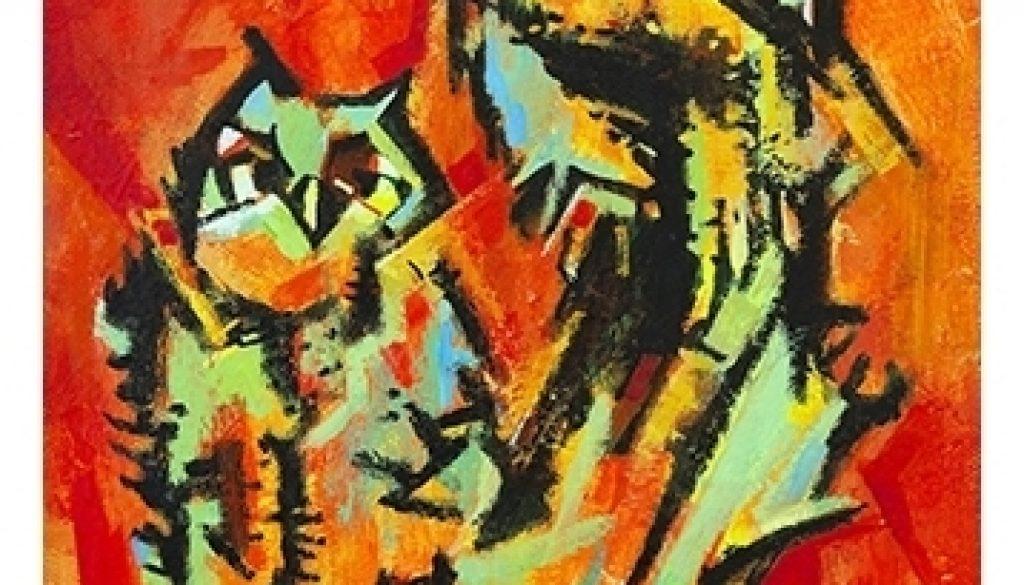 John H Stermer Painting Hoot Owl
