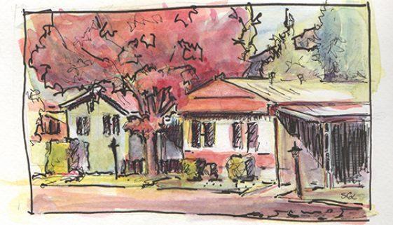 Watercolor Drawing, Drawing