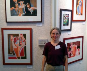 Margaret Stermer-Cox with Paintings