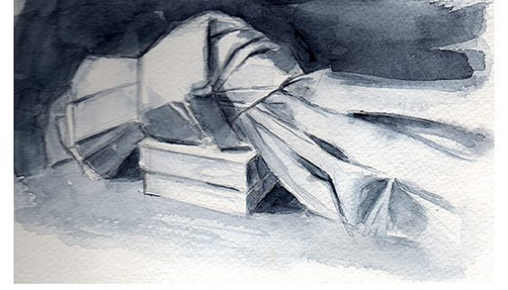 Napkin on Box by Margaret Stermer-Cox