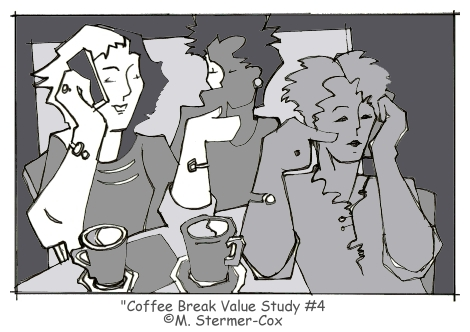 Value Studies: Coffee Break #4 ©M Stermer-Cox