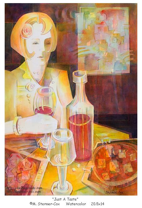 """Just A Taste"" Watercolor ©M Stermer-Cox Dancingclouds.com"