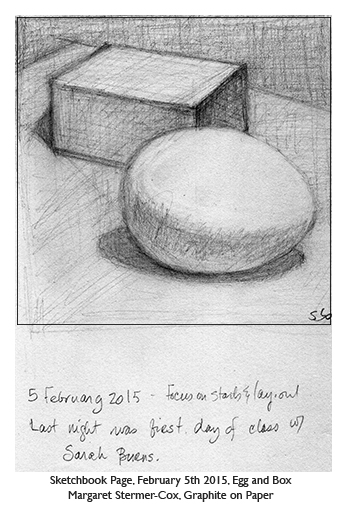 Drawing Study: Egg and Box