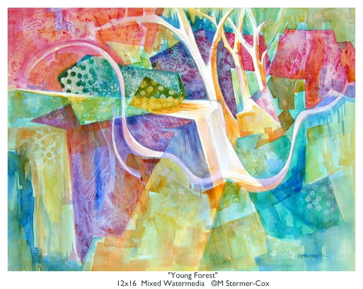 Young Forest, Mixed Watermedia
