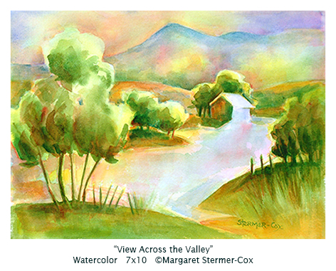 Green: View Across the Valley, M. Stermer-Cox