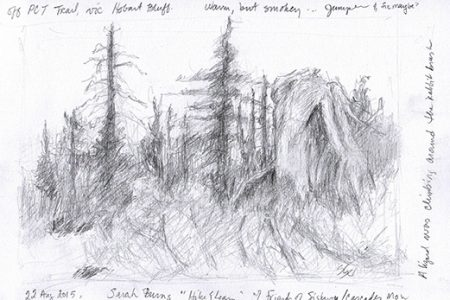 """Sketch from """"Hike & Learn"""" Field Sketching Class"""