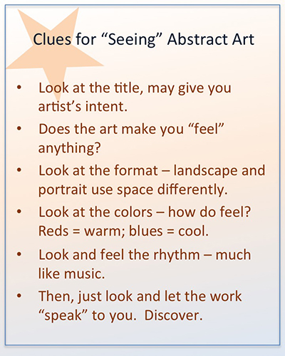 Clues for seeing abstraction in painting