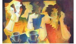 Watercolor Painting: Coffee Break Conversations