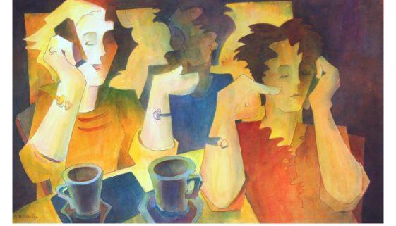Watercolor Painting: Coffee Break Conversations