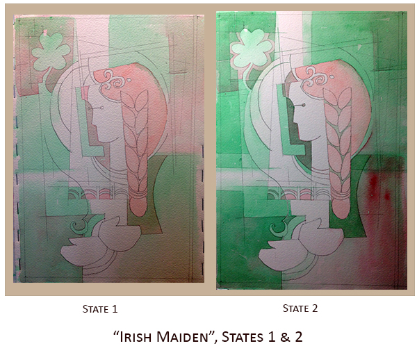 Creating Irish Maiden, State 1 & 2