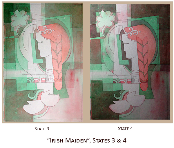 Creating Irish Maiden, States 3 & 4