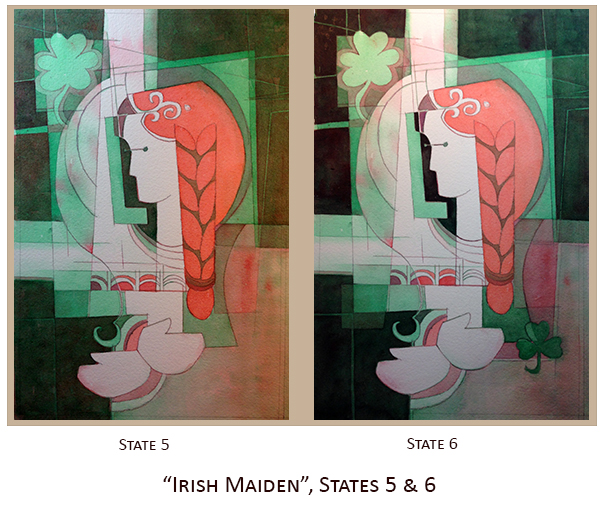 Creating Irish Maiden, States 5 & 6