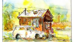 Organic Grind, Watercolor & Ink