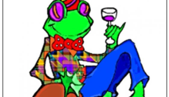 Wine Shop Frog, or Party Frog