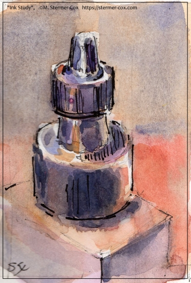 Demonstration: working with watercolor and ink