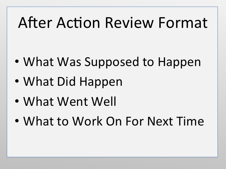 After Action Review Format