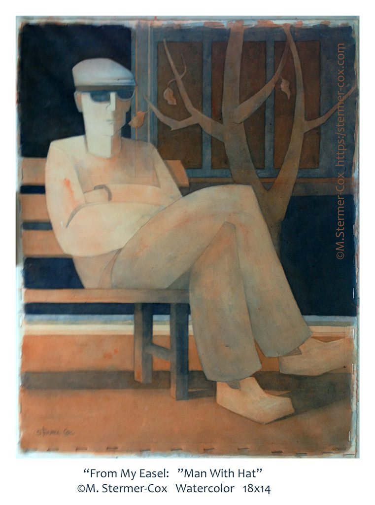Man With Hat Series: First, From Easel