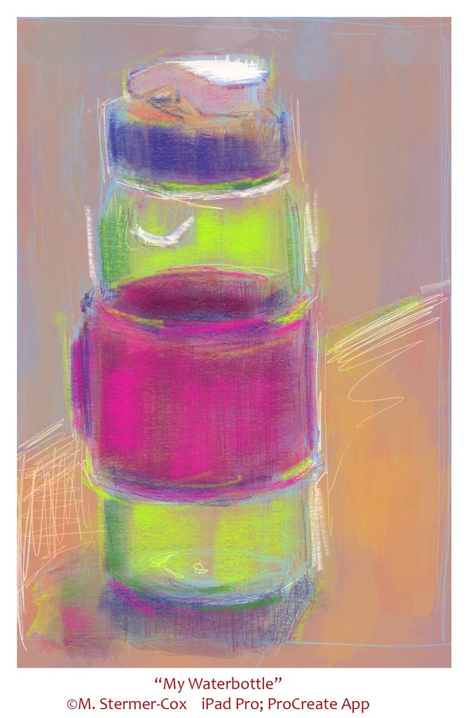 Travel Sketches: Watercolor Bottle