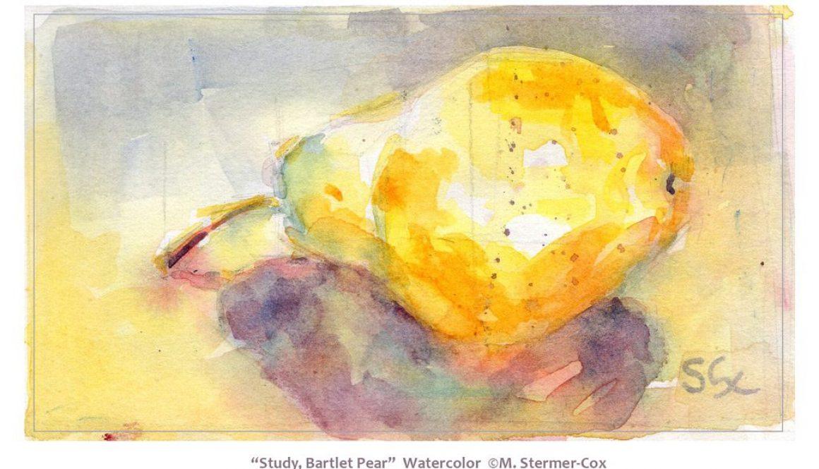 Watercolor Study: Pear