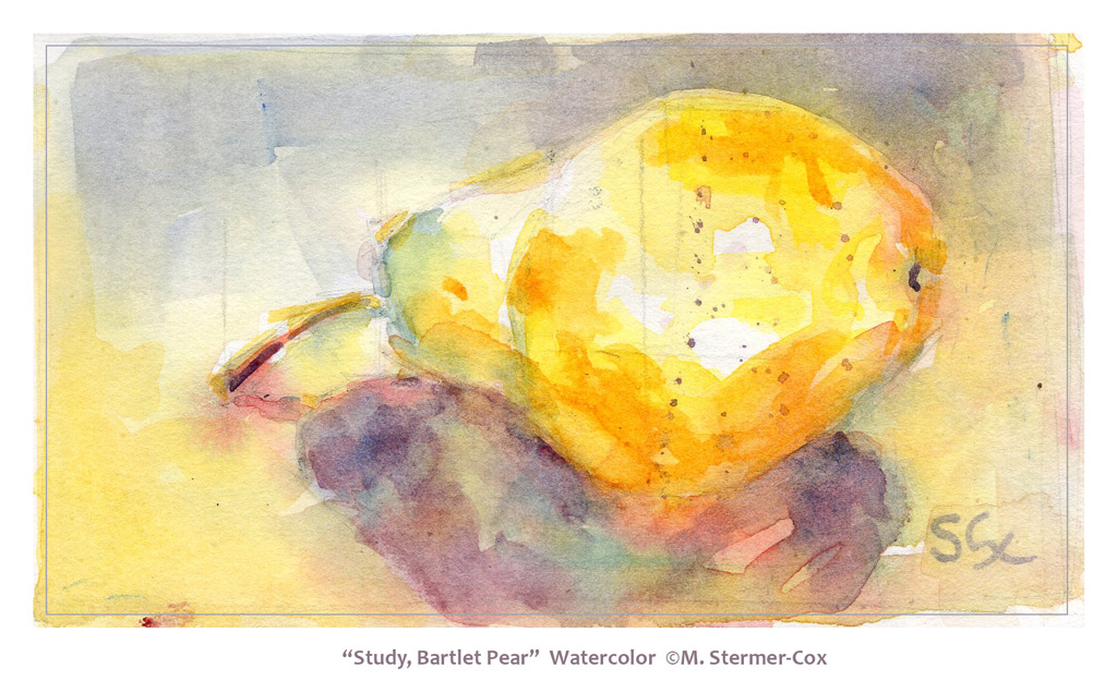 Watercolor Study: Pear