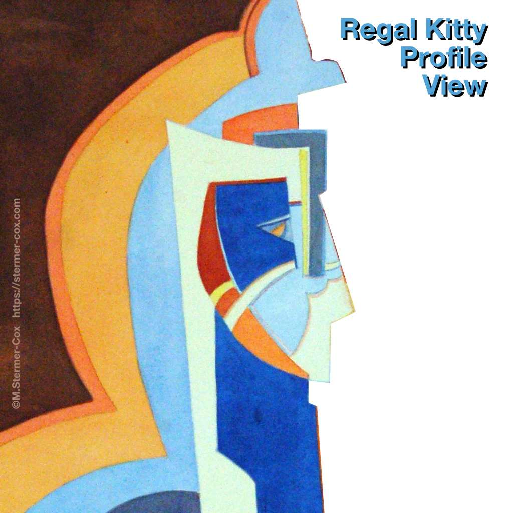 Design detail: Profile view Regal Kitty