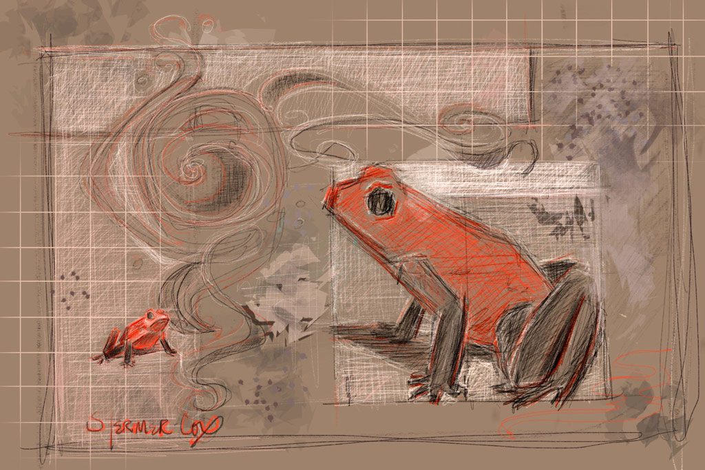 Daily Drawing: iPad Pro Strawberry Frogs