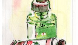 Complimentary Color Pair: Red and Green paint