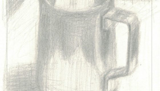 Reflections: Drawing of Frothing Pitcher
