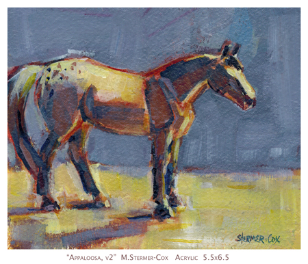 Experimenting: Horse in Acrylic