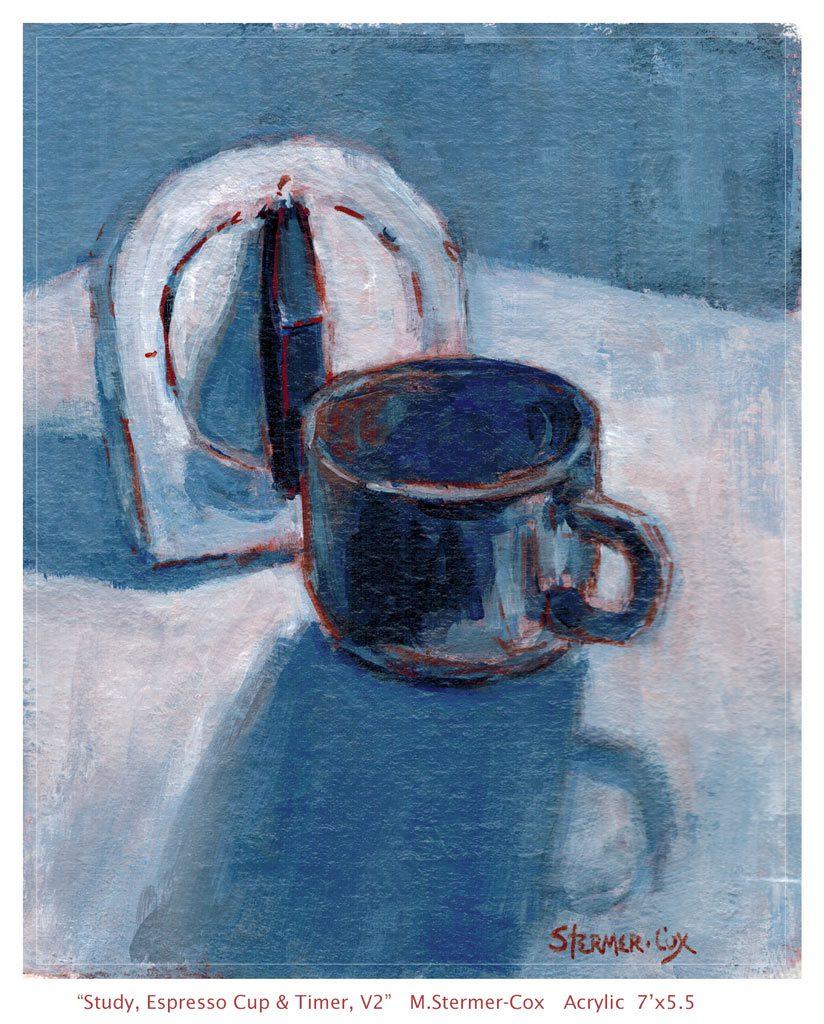 Espresso and Time, Still Life Study