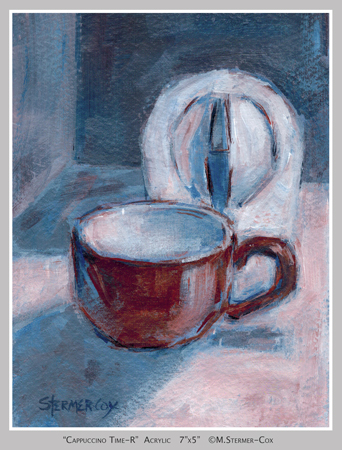 Limited Palette: Day 10 Cappuccino Time-R