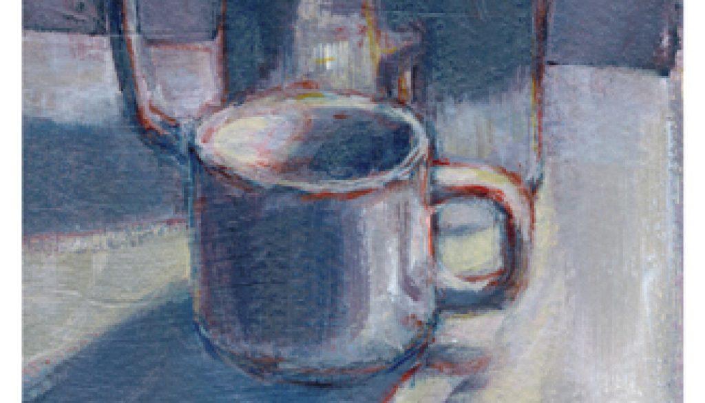 Painting Challenge: Day One, Espresso No Milk