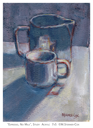 Painting Challenge: Day One, Espresso No Milk