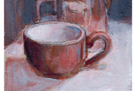 Still Life: Cappuccino Cup & Frothing Pitcher