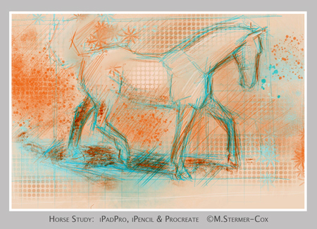 Horse As Subject: Horse, iPadPro study