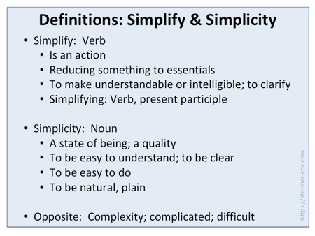 Definitions: Simplifying