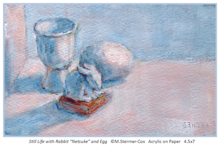 Meaning: Painting of Rabbit and Egg