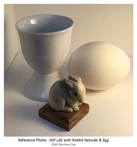 Meaning: Still Life with Rabbit & Egg. Reference Photo