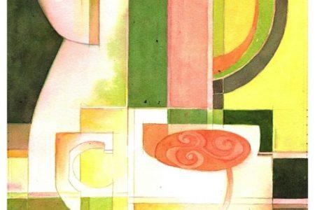 Celtic Celebration Art Show: Irish Breakfast Tea 2, Watercolor
