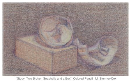 Making Small Studies: Two Broken Seashells and a Box