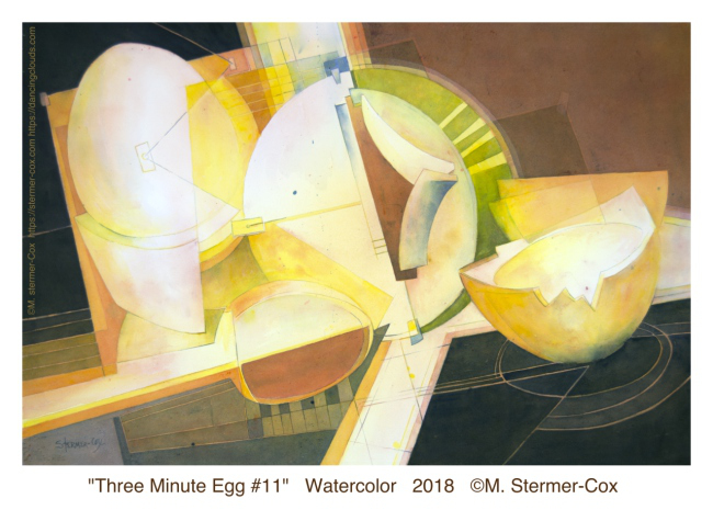 Montana Watercolor Society Members Show: Three Minute Egg #11