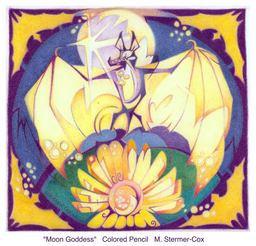 Pollinator Bat: Moon Goddess