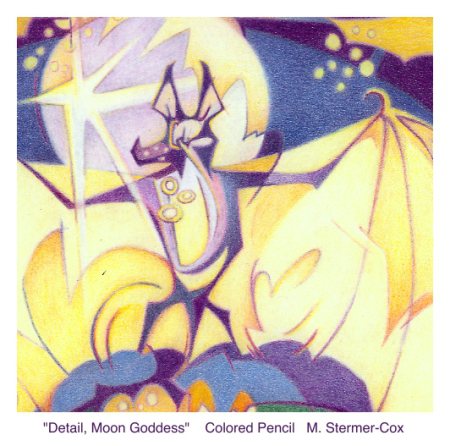 Pollinator Bat: Moon Goddess, Detail