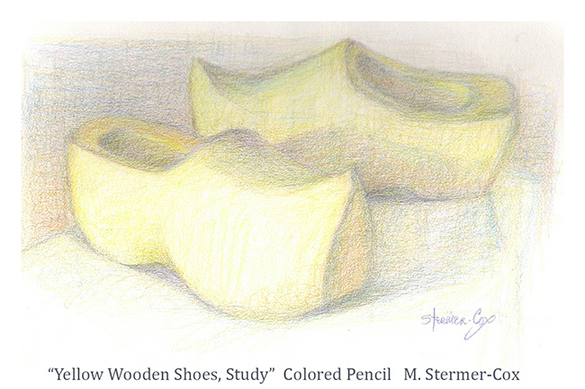 Yellow: Two Yellow Wooden Shoes